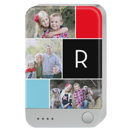 Monogram Memories Portable Charger, Portable Charger, DynamicColor