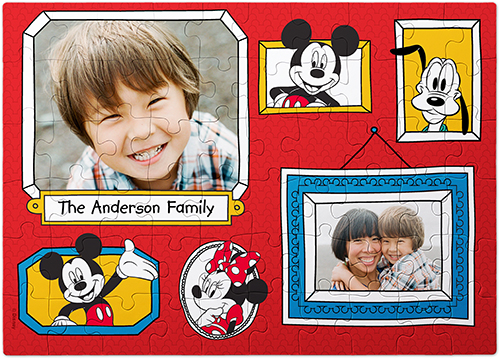 Disney Mickey And Friends Puzzle, 60 pieces, Red