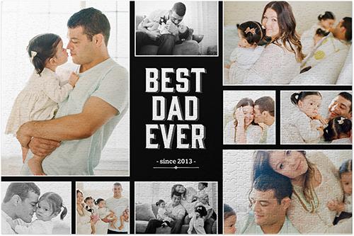Best Dad Puzzle, puzzle_1014, Black