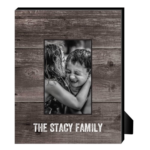 Printed Woodgrain Personalized Frame, - No photo insert, 8 x 10 Personalized Frame, Brown