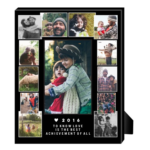 Artisanal Collage Personalized Frame, - Photo insert, 8 x 10 Personalized Frame, Black