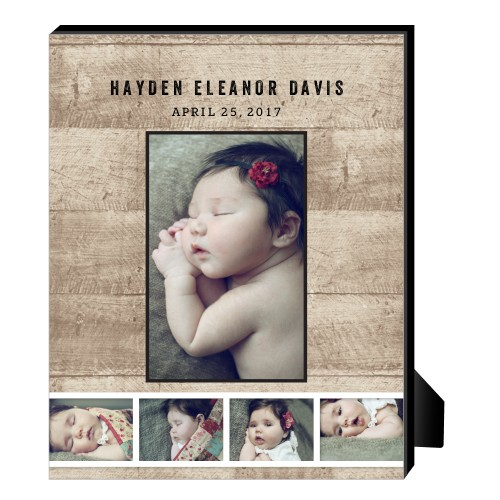 Tilty Strips Personalized Frame, - No photo insert, 8 x 10 Personalized Frame, Beige