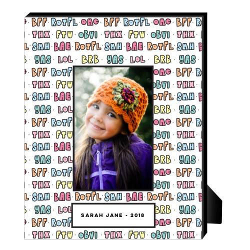 Emoji Texting Personalized Frame, - Photo insert, 8 x 10 Personalized Frame, Blue