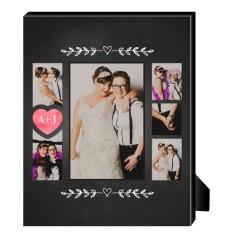 chalkboard heart personalized frame