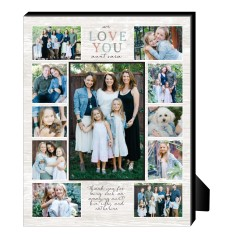 we love you rustic personalized frame