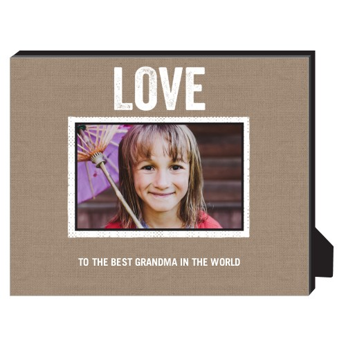 Textured Frames Personalized Frame, - No photo insert, 8 x 10 Personalized Frame, Brown