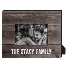 printed woodgrain personalized frame