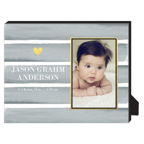 Heart Of Gold Personalized Frame, - Photo insert, 8 x 10 Personalized Frame, Grey