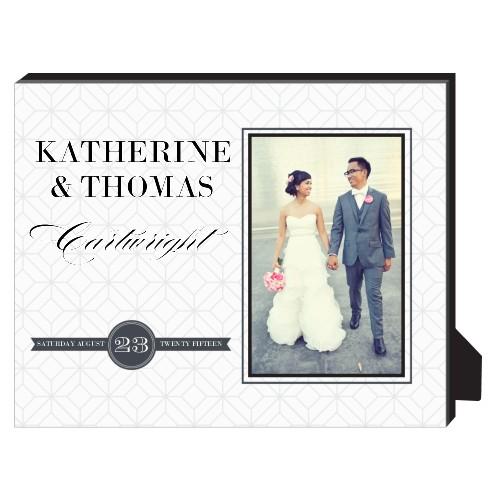Classic Wedding Personalized Frame, - Photo insert, 8 x 10 Personalized Frame, White