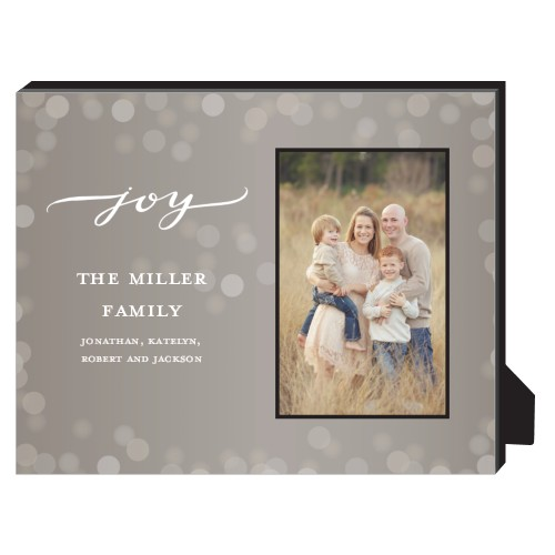 Bokeh Joy Frame Personalized Frame, - Photo insert, 8 x 10 Personalized Frame, Brown