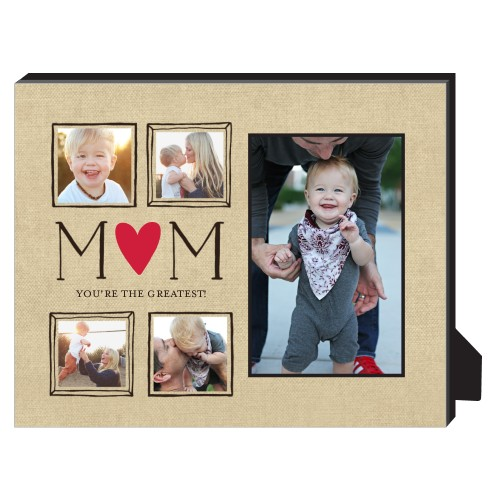 Mom Is The Greatest Personalized Frame, - Photo insert, 8 x 10 Personalized Frame, Beige