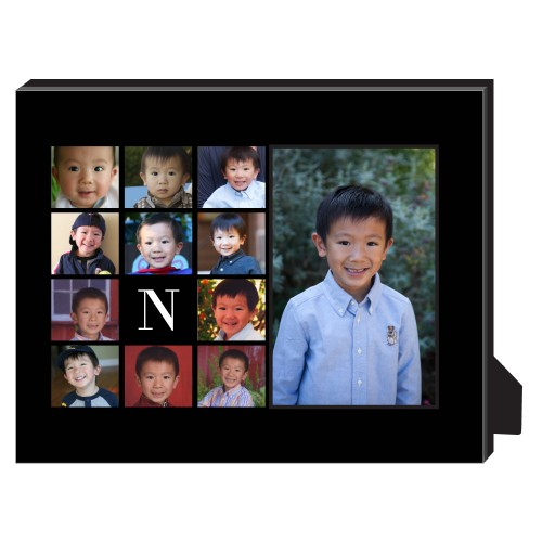 Gallery Monogram Personalized Frame, - No photo insert, 8 x 10 Personalized Frame, Black