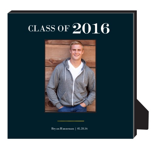 Classic Grad Personalized Frame, - Photo insert, 11.5 x 11.5 Personalized Frame, Black
