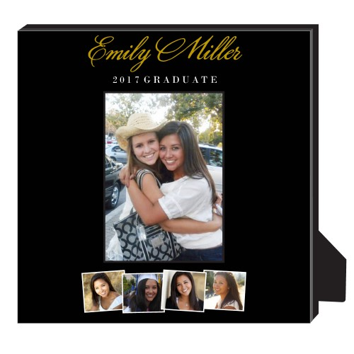 Best Friend Graduation Personalized Frame, - No photo insert, 11.5 x 11.5 Personalized Frame, Black