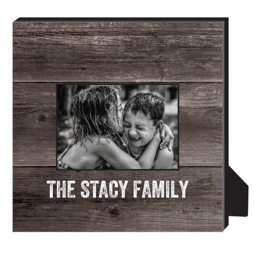 Printed Woodgrain Personalized Frame, - No photo insert, 11.5 x 11.5 Personalized Frame, Brown