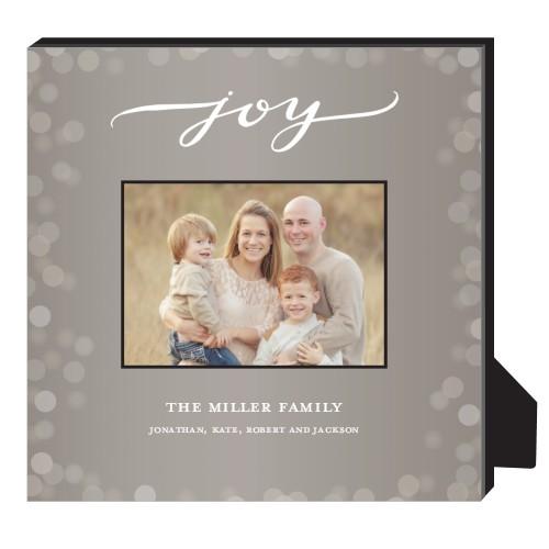 Bokeh Joy Frame Personalized Frame, - Photo insert, 11.5 x 11.5 Personalized Frame, Brown