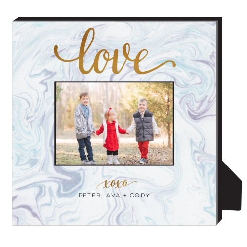 Marbling Love Personalized Frame, - No photo insert, 11.5 x 11.5 Personalized Frame, Purple
