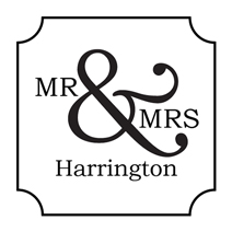 mr mrs forever self inking rubber stamps