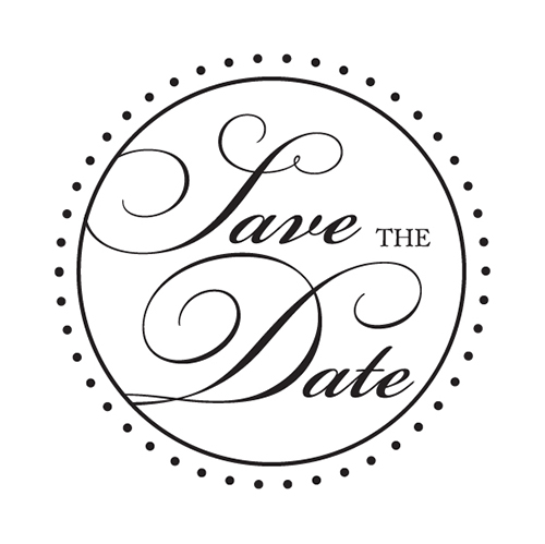Save The Date Custom Address Stamp