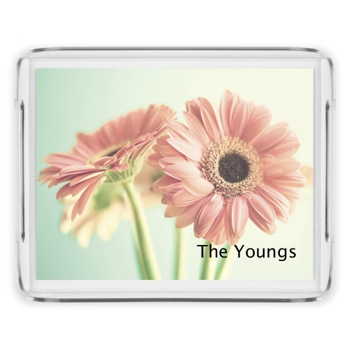 Gerber Daisy Serving Tray, 11.5x9 Inches, Multicolor