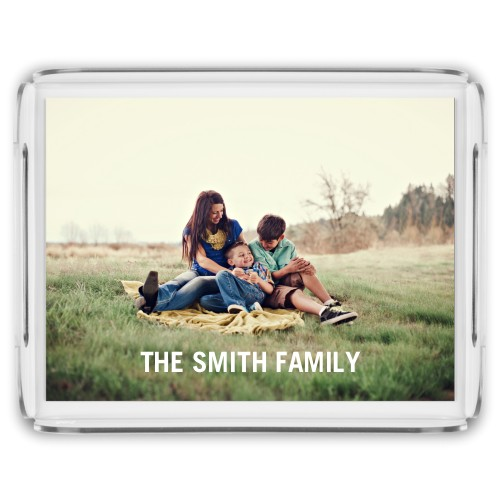 Photo Gallery Serving Tray, 17x13 Inches, Multicolor