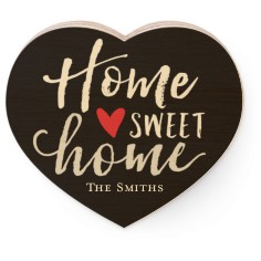 home sweet home wooden magnet
