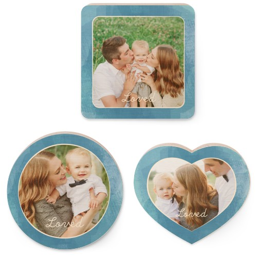 Watercolor Set Wooden Magnet