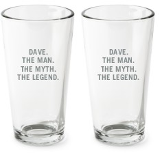 the man pint glass