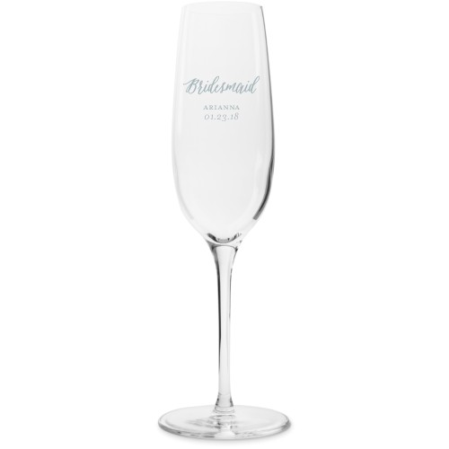 Bridal Party Champagne Flutes, Set of 1, White