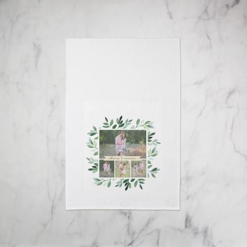 Foliage Collage Tea Towel