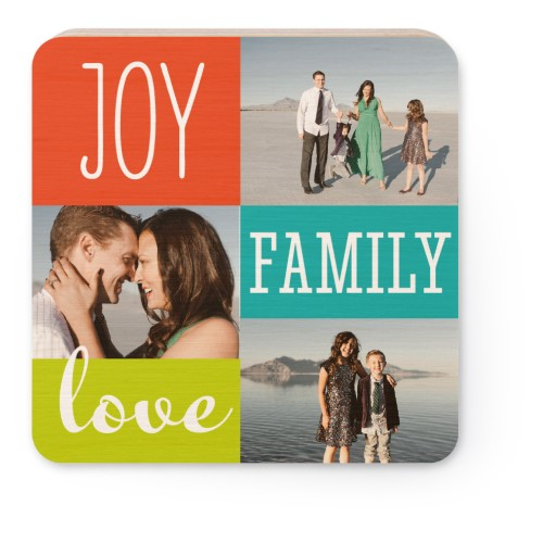 Joy Love Family Wooden Magnet