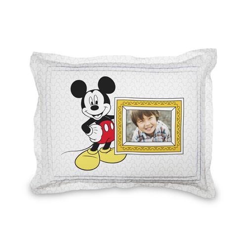 Disney Mickey Mouse Sham, Sham, Sham w/ Black Lantern Back, Standard, White