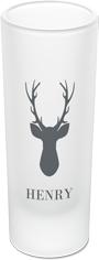 deer silhouette shot glass
