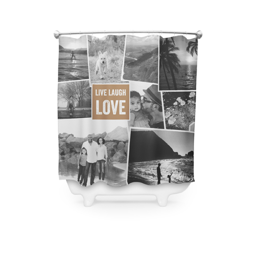 Live Laugh Love Collage Shower Curtain
