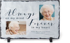 always and forever slate plaque