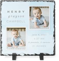 welcome baby watercolor slate plaque