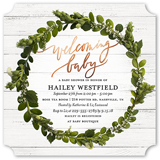 Welcoming Wreath. Baby Shower Invitation