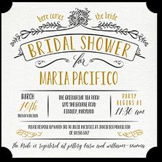 bridal shower invitation from 119 graceful floral