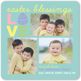 love and blessings easter card 5x5 flat