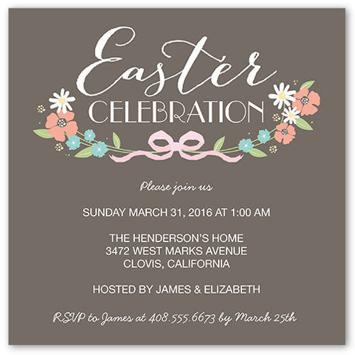 Blessings Bow Easter Invitation