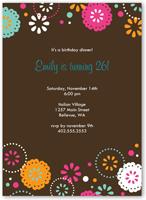 cocoa fiesta party invitation 5x7 flat