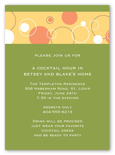 Bubbly Apple Party Invitation