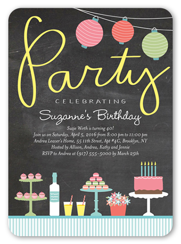 Delicious Delight Birthday Invitation, Rounded Corners
