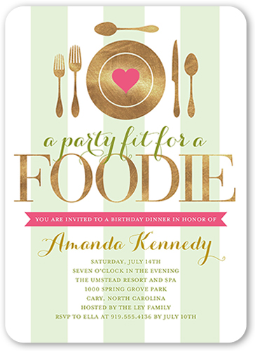 Fantastic Foodie Birthday Invitation, Rounded Corners