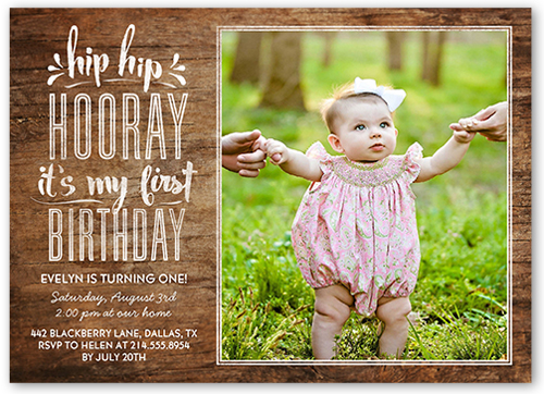 Hip Hop First Girl Birthday Invitation 5x7 Flat