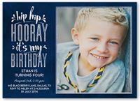 hip hop hooray boy birthday invitation 5x7 flat