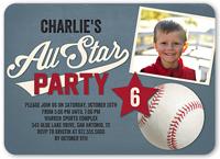 all star fun birthday invitation 5x7 flat