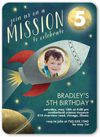 mission to celebrate birthday invitation 5x7 flat