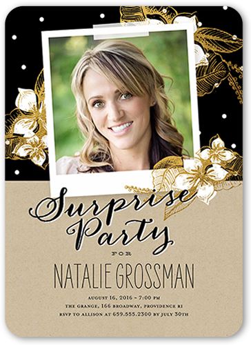 Splendid Surprise Party Birthday Invitation