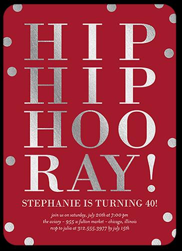 Hip Hip Celebration Birthday Invitation, Rounded Corners